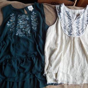 Knox Rose size L sleeveless boho shirts